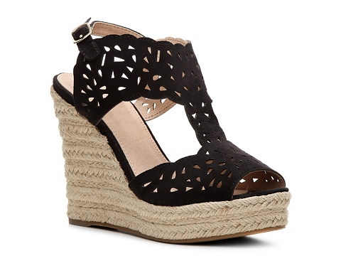 Incaltaminte Femei GC Shoes Celina Suede Wedge Sandal Black