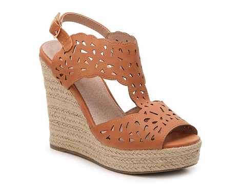 Incaltaminte Femei GC Shoes Celina Suede Wedge Sandal Cognac