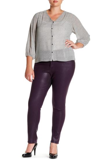 Imbracaminte Femei NYDJ Sheri Coated Skinny Jean Plus Size ELDERBERRY