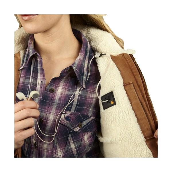 Imbracaminte Femei Carhartt Wildwood Weathered Duck Jacket CARHARTT BROWN (02)