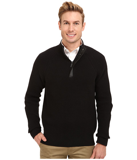 Imbracaminte Barbati Kenneth Cole Half Zip Mock with Coating Black