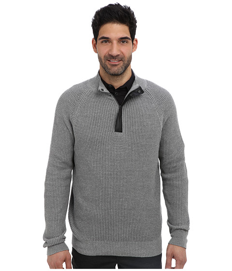 Imbracaminte Barbati Kenneth Cole 12 Zip Mock with Coating Flannel Heather