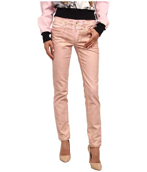 Imbracaminte Femei Just Cavalli Dye Metallic Skinny Leg Fit Pale Pink