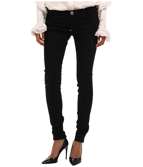Imbracaminte Femei Philipp Plein Jeans Shiny Black Diamond