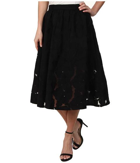 Imbracaminte Femei Sam Edelman Embroidered Midy Skirt Black 1