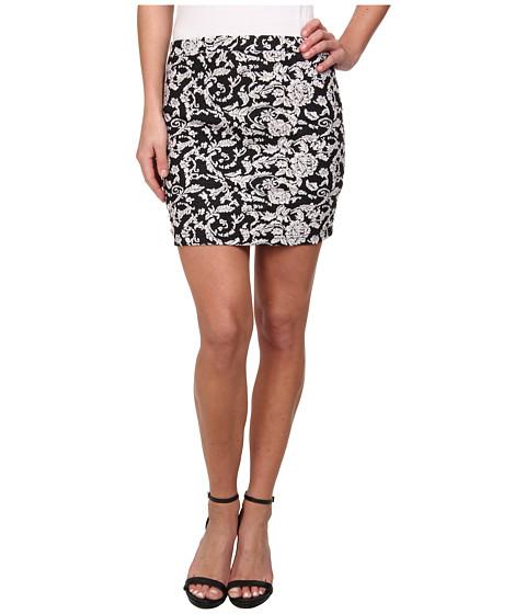 Imbracaminte Femei BB Dakota Kiki Floral Knit Jacquard Skirt BlackWhite