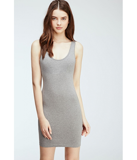 Imbracaminte Femei Forever21 Stretch-Knit Bodycon Dress Heather grey