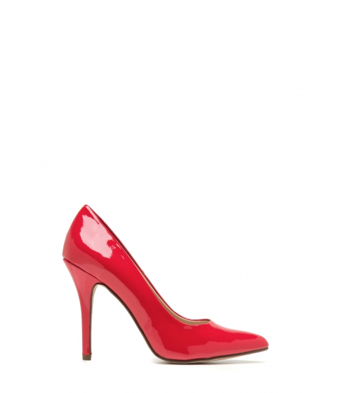 Incaltaminte Femei CheapChic So Refined Pointy Faux Patent Pumps Red