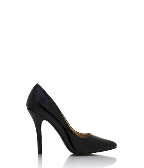 Incaltaminte Femei CheapChic So Refined Pointy Faux Patent Pumps Black