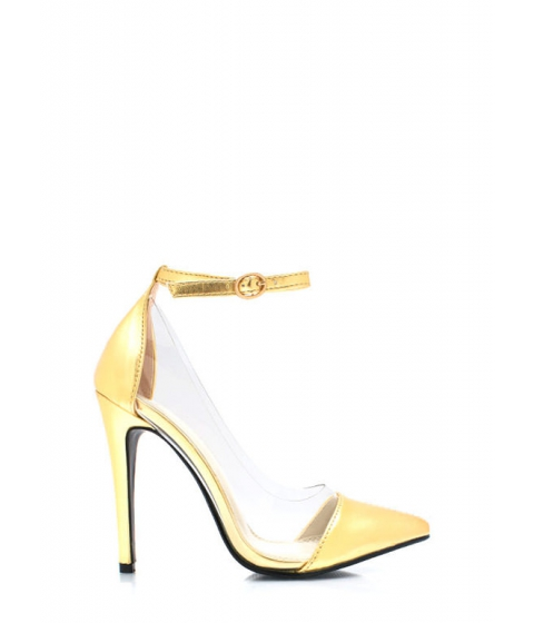 Incaltaminte Femei CheapChic Clear The Way Pointy Pumps Gold