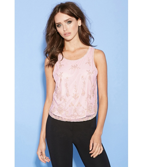 Imbracaminte Femei Forever21 Ornate Beaded Top Pink