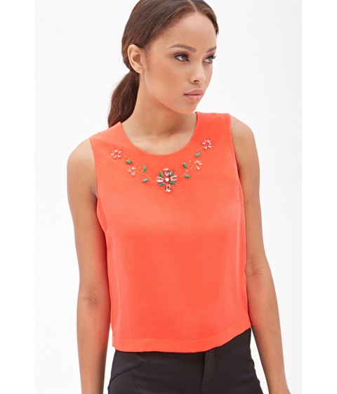 Imbracaminte Femei Forever21 Embellished Sleeveless Top Pink
