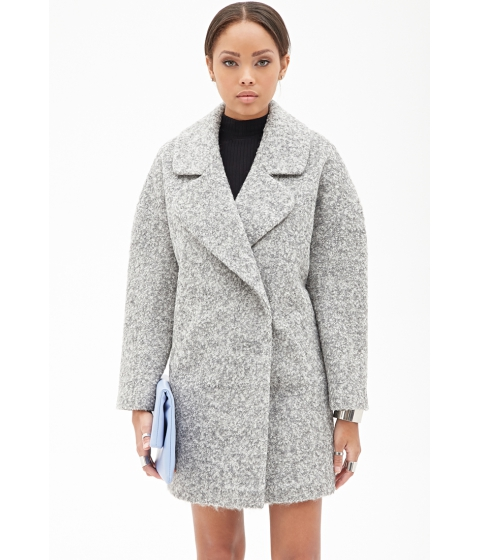 Imbracaminte Femei Forever21 Oversized Boucleacute Coat Heather grey