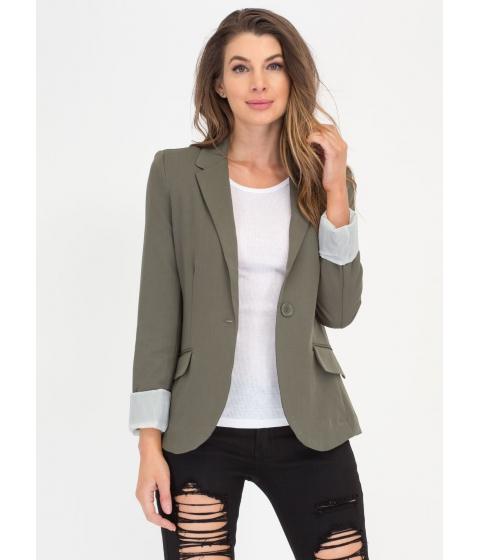 Imbracaminte Femei CheapChic Business Or Pleasure Basic Blazer Olive