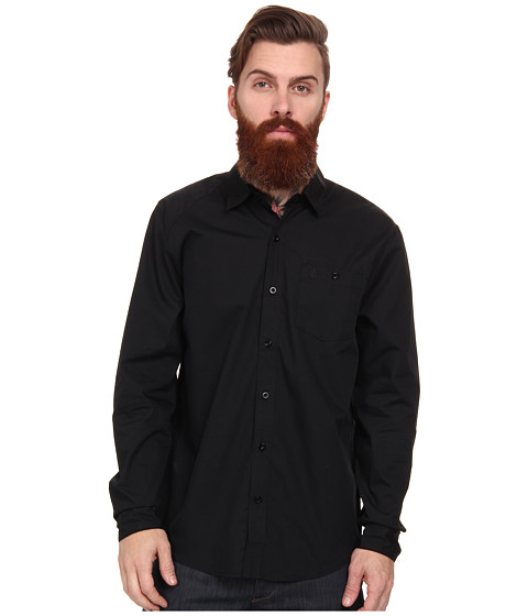 Imbracaminte Barbati Volcom Everetty Solid LS Woven Black