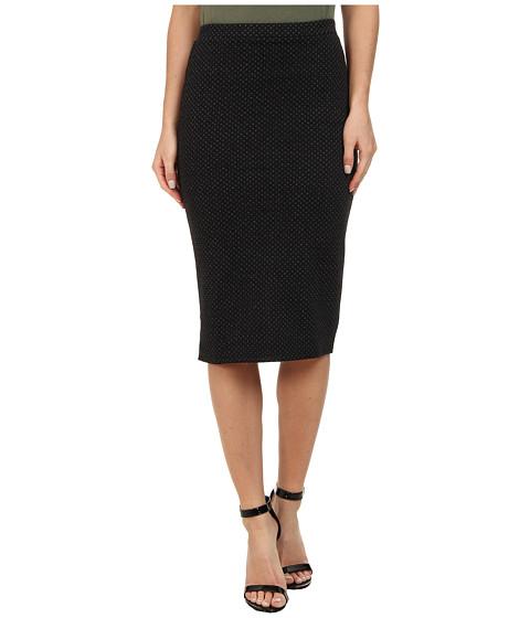 Imbracaminte Femei Free People Polka Dot Double Cloth Knit Ludlow Pencil Skirt Black