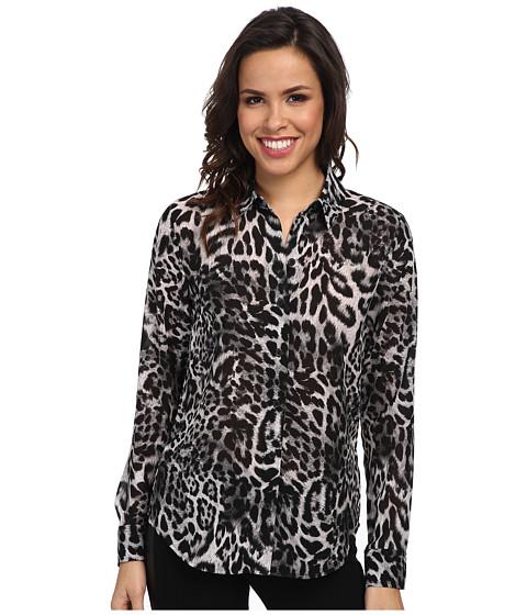 Imbracaminte Femei Michael Kors Fremont Long Sleeve Fit Shirt Black