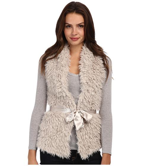 Imbracaminte Femei Brigitte Bailey Fuzzy Belted Vest Ivory