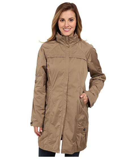 Imbracaminte Femei Rain Forest Packable Coat w Roll Sleeve Tan