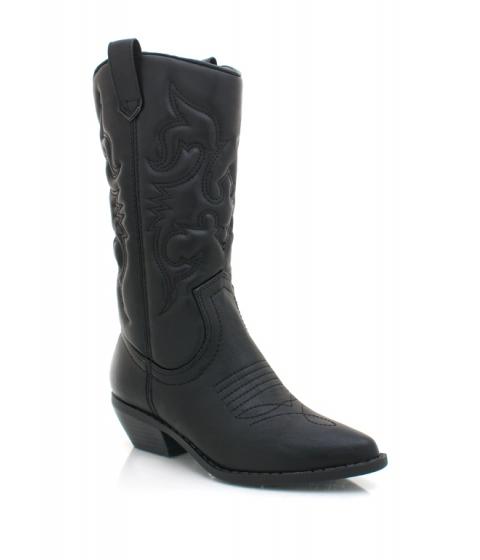 Incaltaminte Femei CheapChic Stitched Design Cowgirl Boots Black