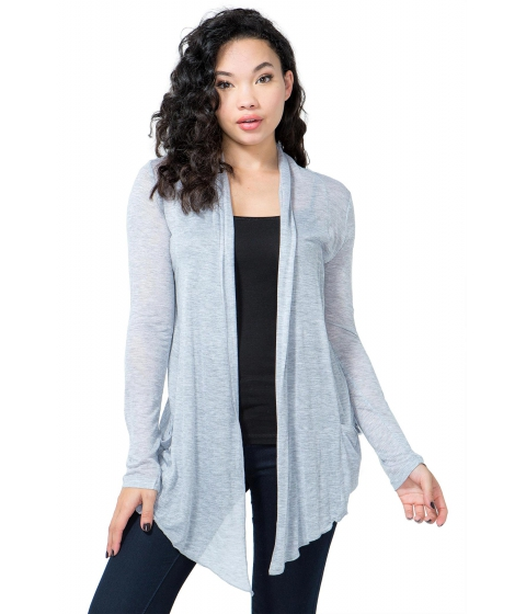 Imbracaminte Femei CheapChic Long Sleeve Open Front Cardigan Charcoal