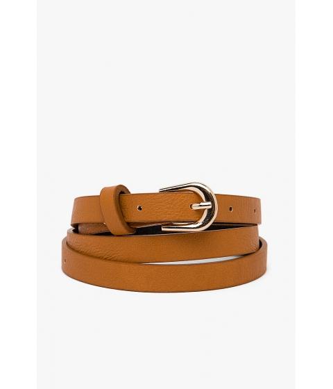 Accesorii Femei CheapChic Basic Buckle Skinny Belt Camel