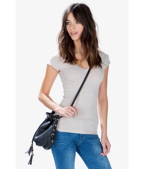 Imbracaminte Femei CheapChic Short Sleeve V Neck Tee Oatmeal