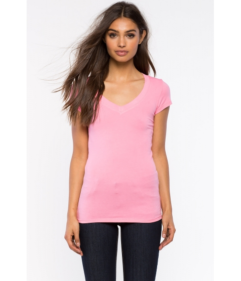 Imbracaminte Femei CheapChic Short Sleeve V Neck Tee Blush