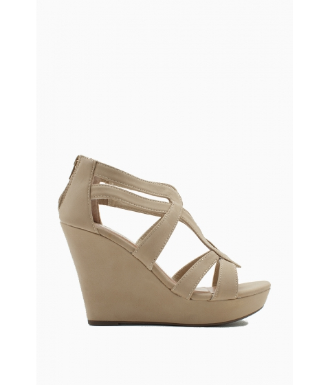 Incaltaminte Femei CheapChic Seasonless Super Wedge Nude