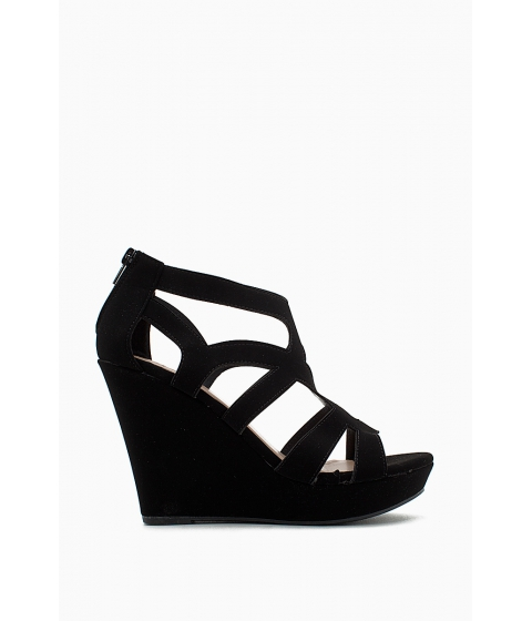 Incaltaminte Femei CheapChic Cutout Multi Strap Wedge Black