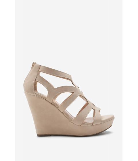 Incaltaminte Femei CheapChic Cutout Multi Strap Wedge Nude