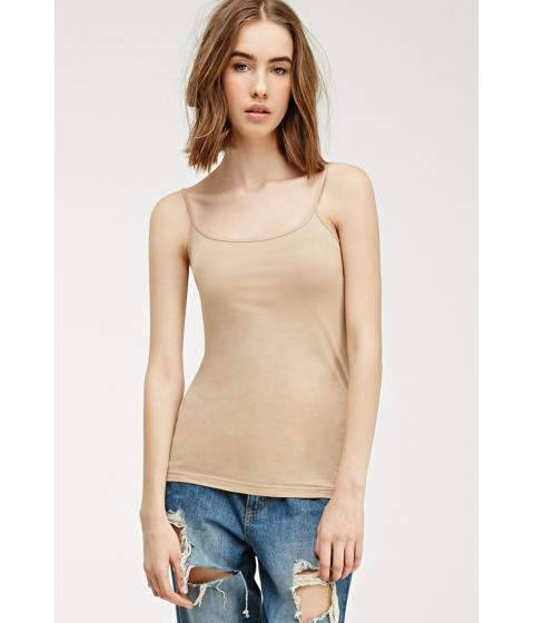 Imbracaminte Femei Forever21 Classic Cotton-Blend Cami Nude