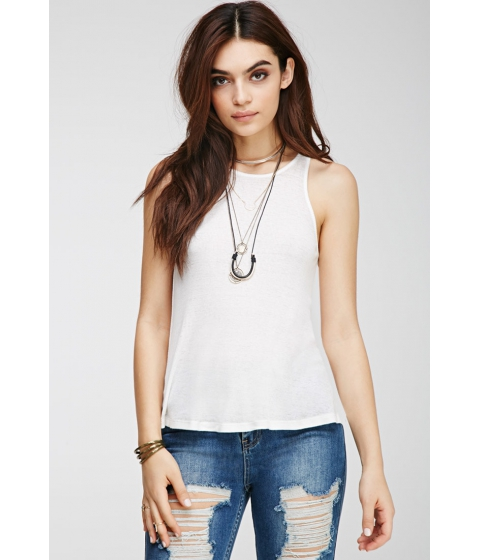 Imbracaminte Femei Forever21 Mineral Wash Ribbed Tank IVORY
