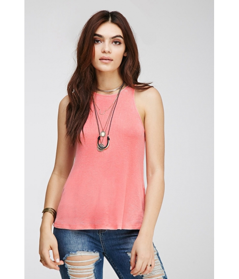 Imbracaminte Femei Forever21 Mineral Wash Ribbed Tank FLAMINGO PINK