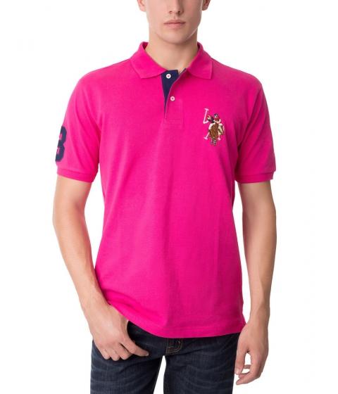 Imbracaminte Barbati US Polo Assn Multicolor Logo Polo Shirt PINK PARADISE