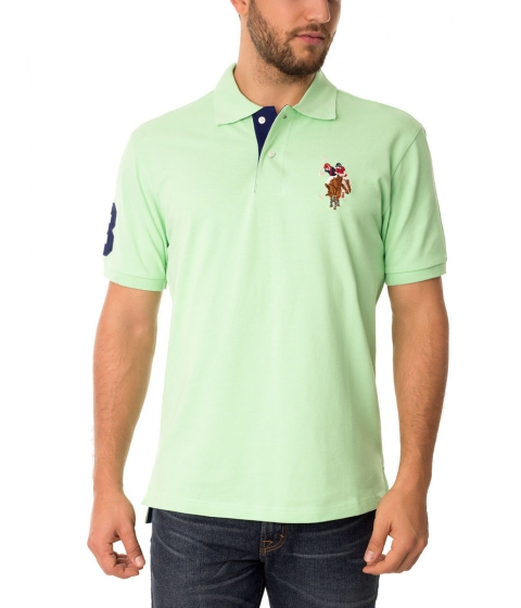 Imbracaminte Barbati US Polo Assn Multicolor Logo Polo Shirt Summer Green