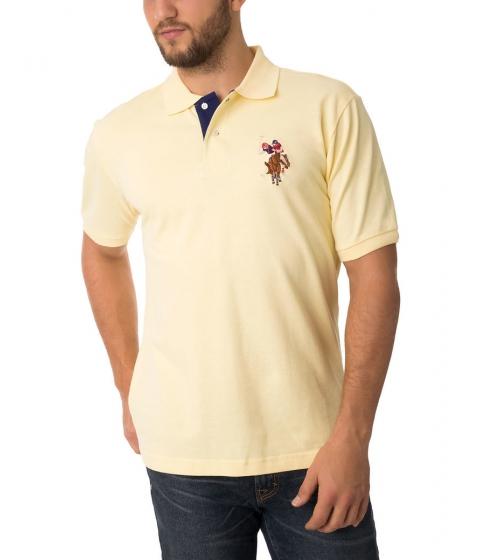Imbracaminte Barbati US Polo Assn Multicolor Logo Polo Shirt Lemon Frost