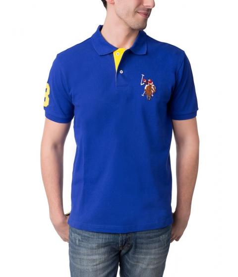 Imbracaminte Barbati US Polo Assn Multicolor Logo Polo Shirt International Blue