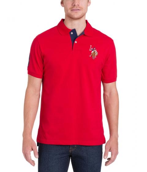 Imbracaminte Barbati US Polo Assn Multicolor Logo Polo Shirt Engine Red