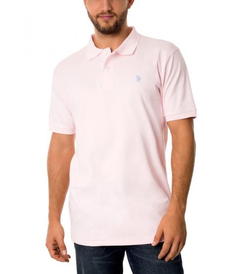 Imbracaminte Barbati US Polo Assn Interlock Polo Shirt Coastal Pink