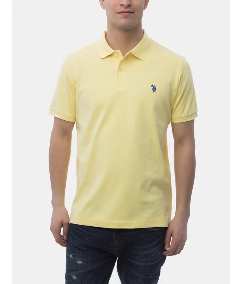 Imbracaminte Barbati US Polo Assn Interlock Polo Shirt Lemon Frost