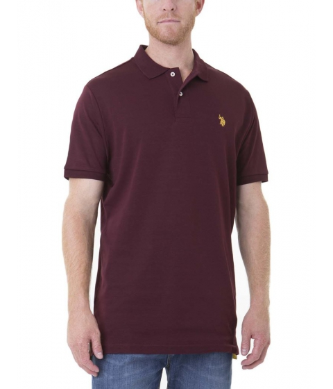 Imbracaminte Barbati US Polo Assn Interlock Polo Shirt NEW BURGUNDY