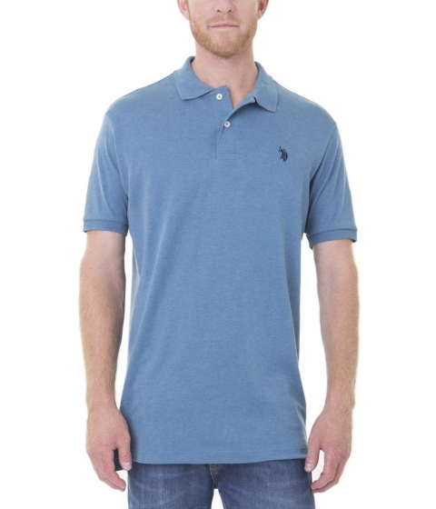 Imbracaminte Barbati US Polo Assn Interlock Polo Shirt MEDIUM BLUE HEATHER