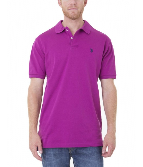 Imbracaminte Barbati US Polo Assn Interlock Polo Shirt ROYAL FUCHSIA