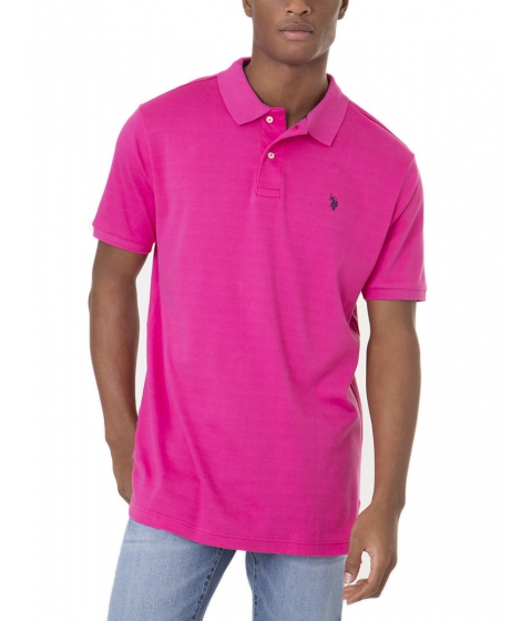 Imbracaminte Barbati US Polo Assn Interlock Polo Shirt CARIBBEAN PINK