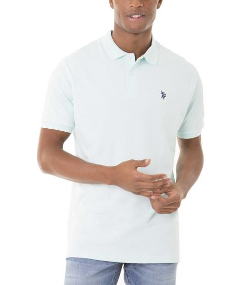 Imbracaminte Barbati US Polo Assn Interlock Polo Shirt AQUA LIGHT