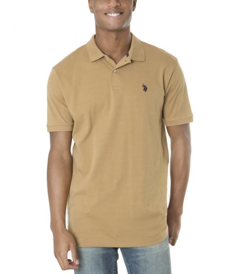 Imbracaminte Barbati US Polo Assn Interlock Polo Shirt CAMEL COAT