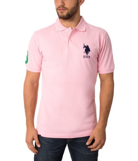 Imbracaminte Barbati US Polo Assn BIG LOGO Polo Shirt Pink Rose