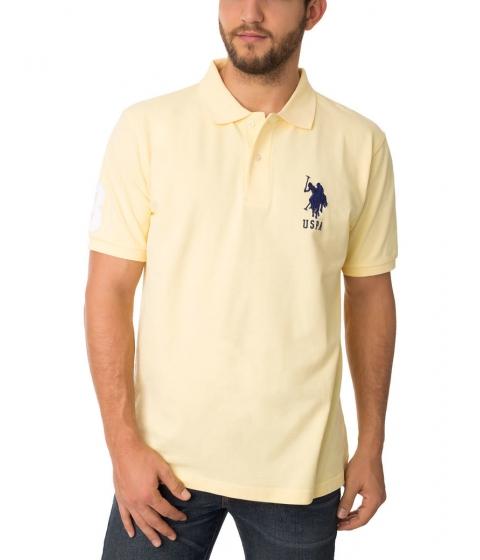 Imbracaminte Barbati US Polo Assn BIG LOGO Polo Shirt Lemon Frost