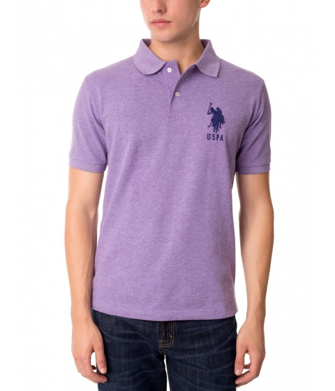 Imbracaminte Barbati US Polo Assn BIG LOGO Polo Shirt TIE PURPLE HEATHER